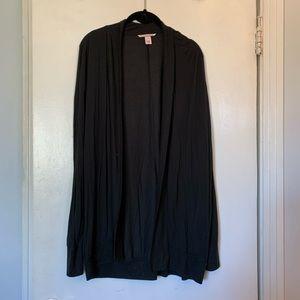Victoria Secret long black cardigan